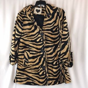 Heart soul tiger striped Jacket size medium